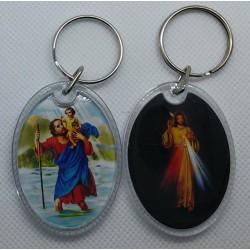 Brelok Św. Krzysztof / Jezus Miłosierny