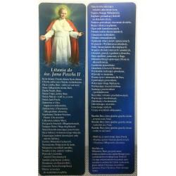 Zakładka do książki - Litania do św. Jana Pawła II