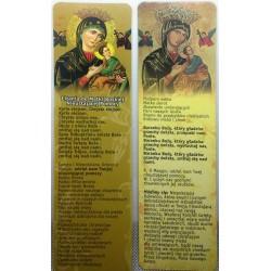 Zakładka do książki - Litania do Matki Boskiej Nieustającej pomocy