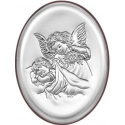 Srebrny obrazek - Aniołek z latarenką