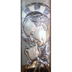 Srebrny obrazek - Św. Jan Paweł II