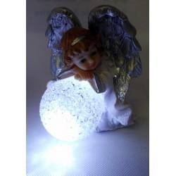 Aniołek z owieczką - żywica